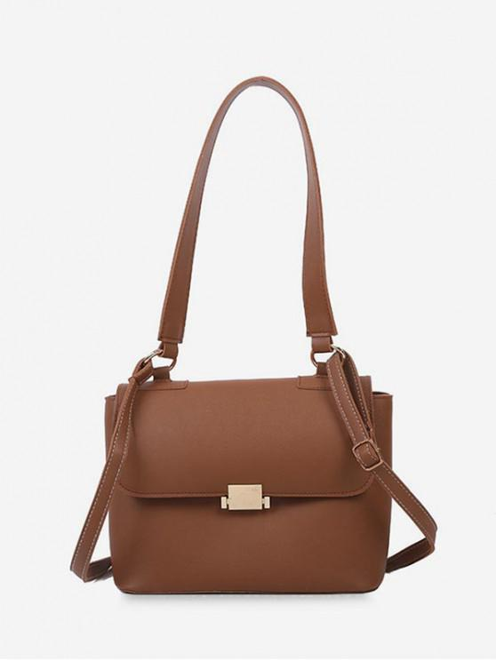 shops Top Handle Flap Crossbody Bag - LIGHT BROWN