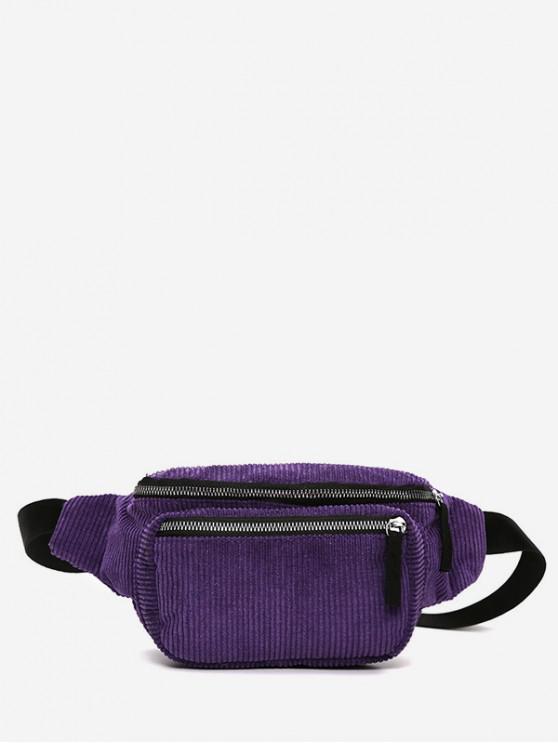 Вельвет Повседневная Сумка на талии - Фиолетовый ирис
