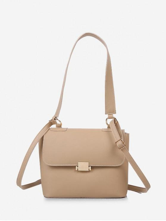 unique Top Handle Flap Crossbody Bag - TAN