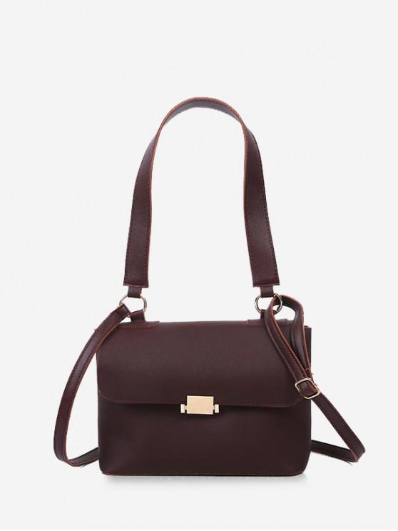 buy Top Handle Flap Crossbody Bag - DEEP COFFEE