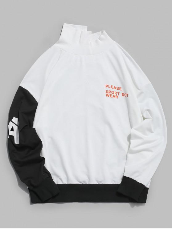ZAFUL Colour Blocking Splicing Brief Tropfen Schulter Sweatshirt - Multi S