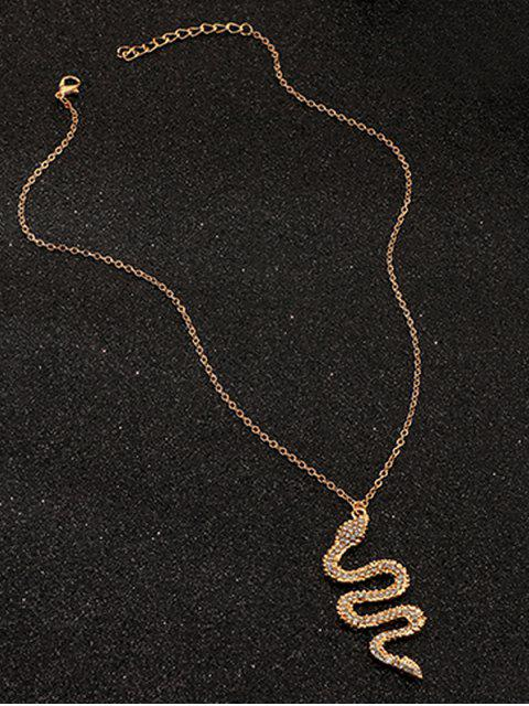 Collar Cadena Brillantes Serpiente - Oro  Mobile