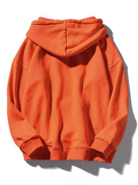 fashion Snowflake Letter Printed Christmas Hoodie - ORANGE 2XL Mobile