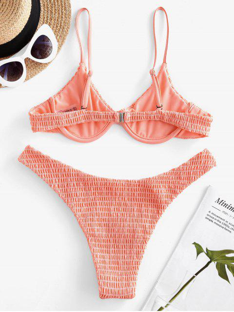 ZAFUL Set de Bikini con Aros - Rosa Naranja L Mobile