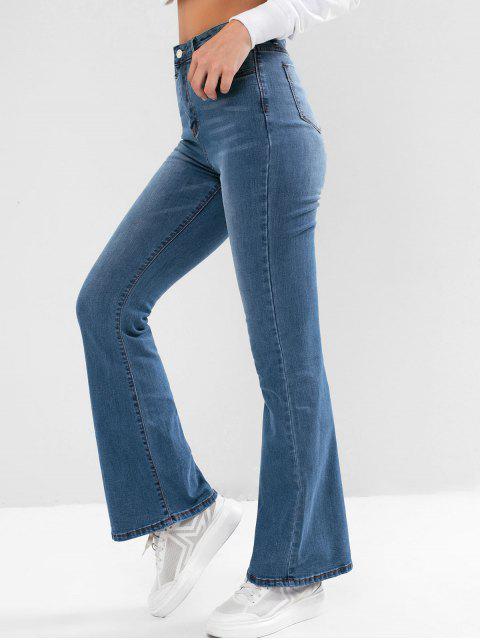 Jean Bootcut à Taille Haute avec Poche - Bleu Toile de Jean S Mobile