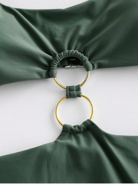 ZAFUL O型圈圓領Monokini泳裝 - 迷彩綠色 XL Mobile