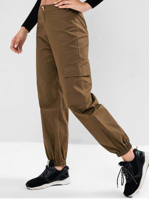 ZAFUL Solide Joggerhose mit Mittele Taille und Pattentasche - Armeegrün L Mobile