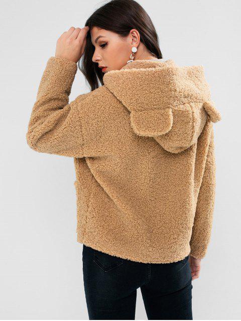 ZAFUL熊滴耳肩口袋外套泰迪 - 黃褐色 XL Mobile