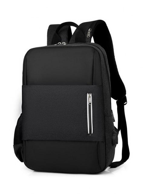 chic Large Capacity Top Handle Business Backpack - BLACK  Mobile