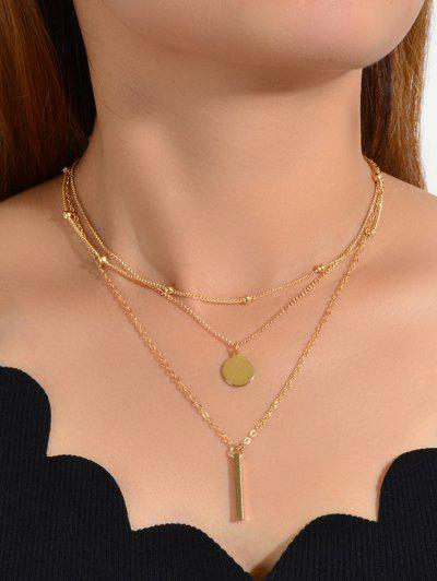 3Pcs Geometric Necklace Set