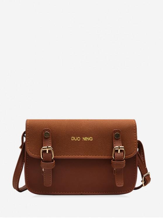 กระเป๋า Messenger ไหล่สบาย ๆ - สีน้ำตาลอ่อน
