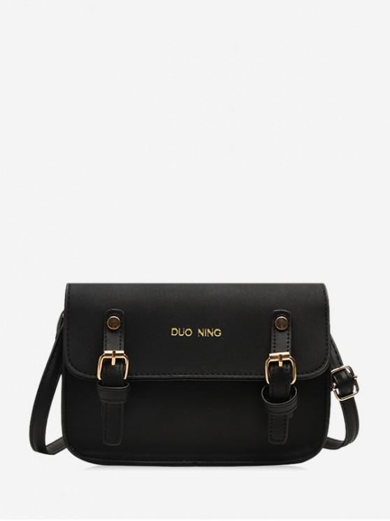 women Messenger Casual Shoulder Bag - BLACK
