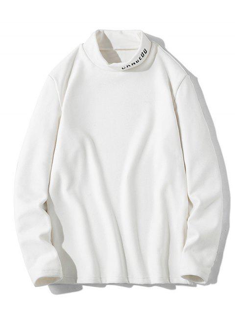 Patrón de la letra mangas camiseta ocasional - Blanco M Mobile