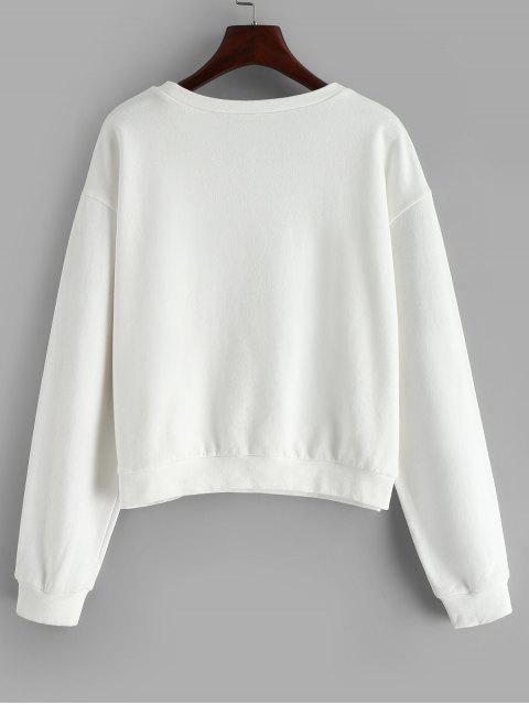new ZAFUL Environmental Protect Slogan Sweatshirt - WHITE S Mobile