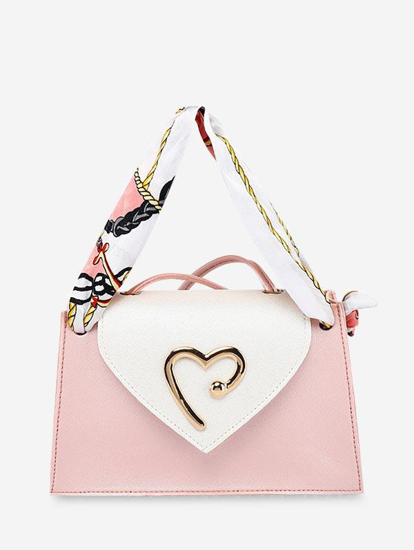 Heart Ribbon Messenger Shoulder Purse (460702201) photo