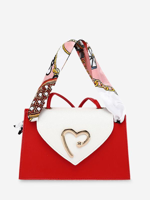 Heart Ribbon Messenger Shoulder Purse (460702202) photo