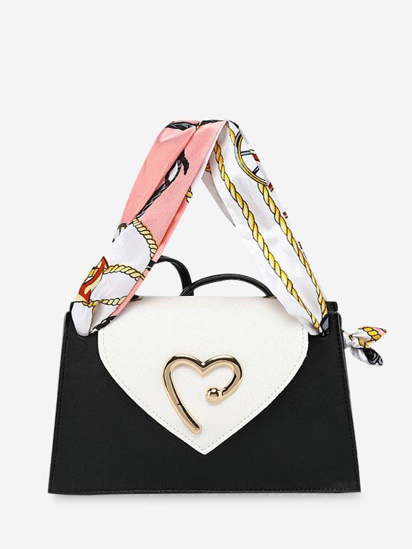 Heart Ribbon Messenger Shoulder Purse (460702203) photo