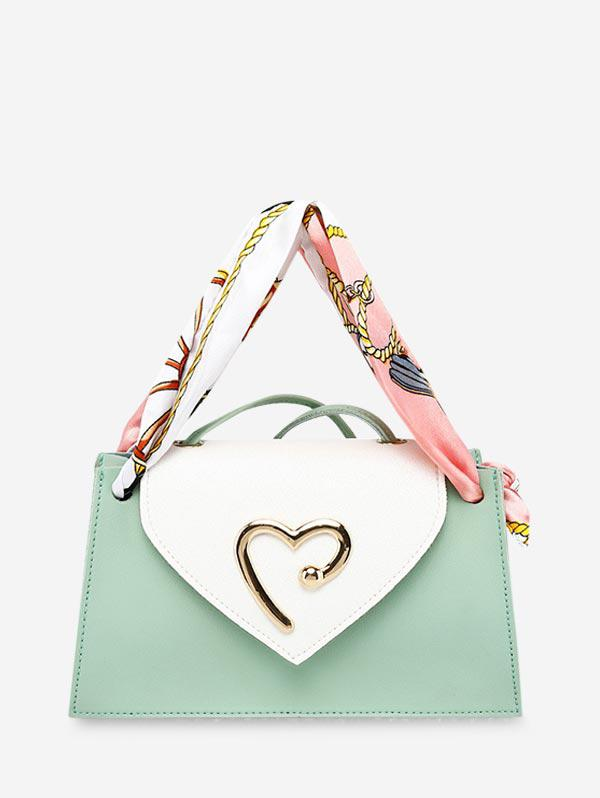 Heart Ribbon Messenger Shoulder Purse (460702205) photo