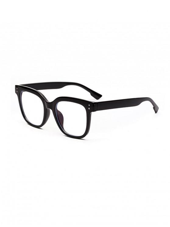 womens Computer Anti Blue-ray Square Glasses - BLACK