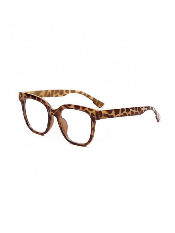 trendy Computer Anti Blue-ray Square Glasses - LEOPARD
