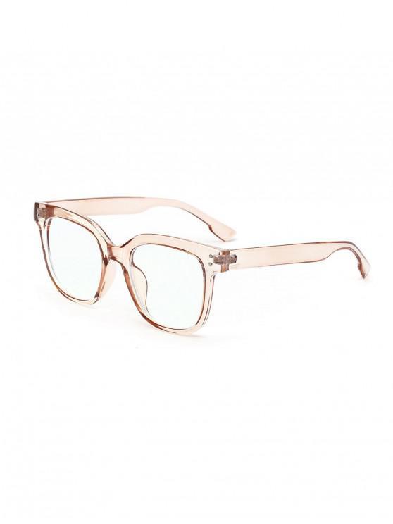 fashion Computer Anti Blue-ray Square Glasses - SANDY BROWN