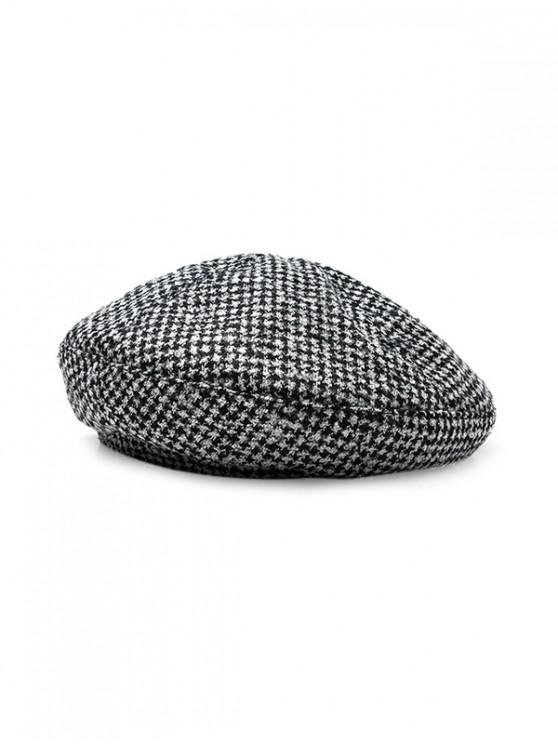 trendy Houndstooth Print Painter Beret Hat - MULTI-A