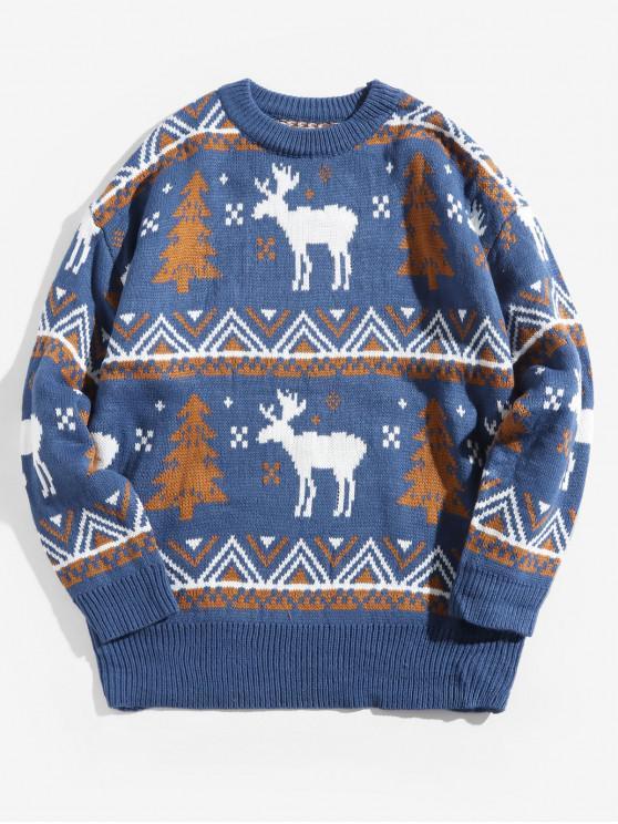 Crăciun Wapiti model de pulover - Lapis Albastru XL