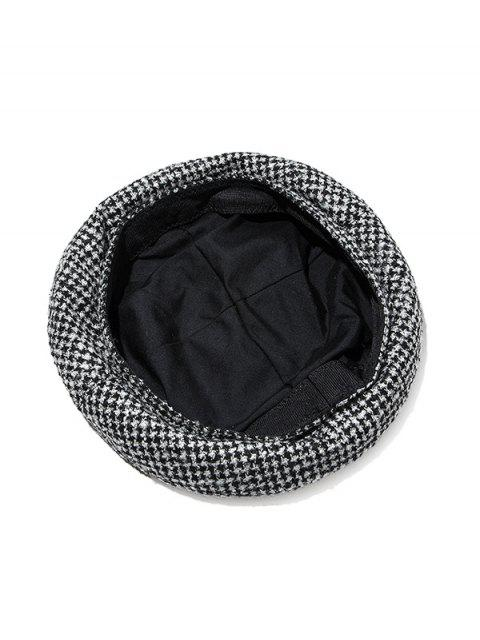 trendy Houndstooth Print Painter Beret Hat - MULTI-A  Mobile