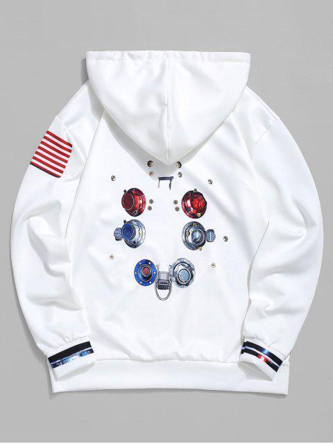 La bandera americana Gráfico Impreso con capucha - Blanco M Mobile