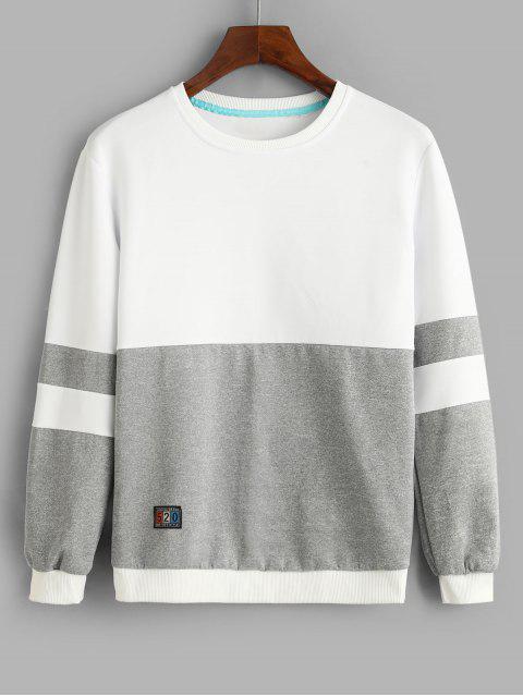 El bloqueo de color de la camiseta de empalme apliques - Gris S Mobile