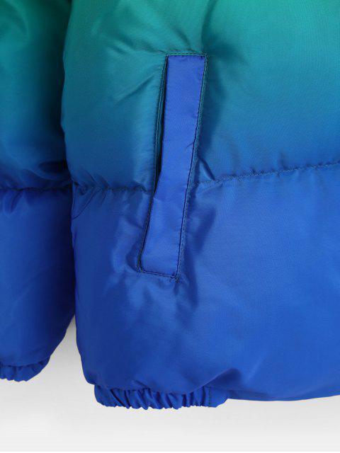 Chaqueta Acolchada y Zipper Estampado Ombre - Azul XL Mobile