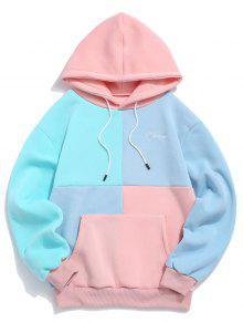 Color Spliced Pocket Casual Hoodie