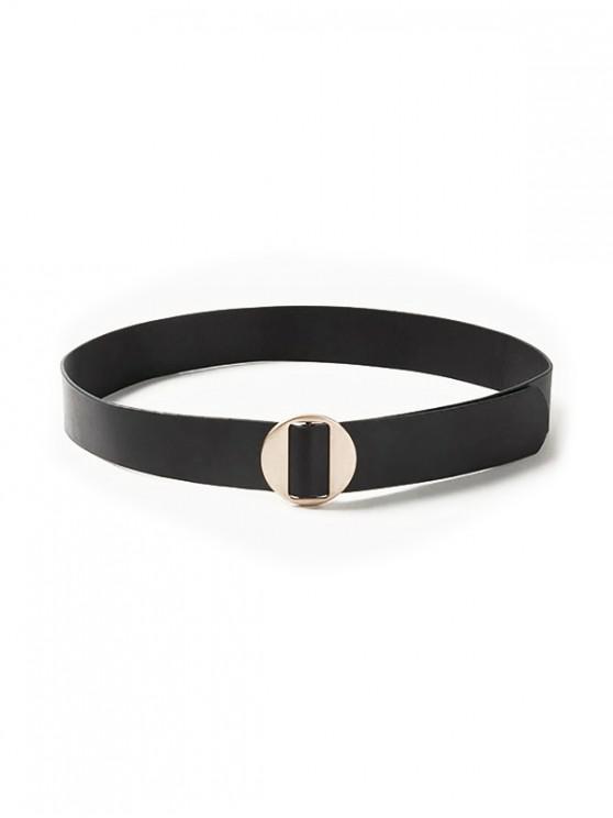 shops Round Buckle Women Belt - BLACK
