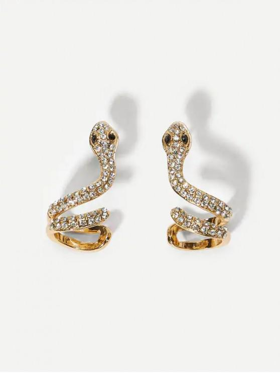 affordable Snake Shape Rhinestone Bohemian Stud Earrings - GOLD