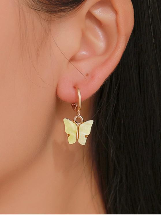 sale Butterfly Small Hoop Drop Earrings - CORN YELLOW