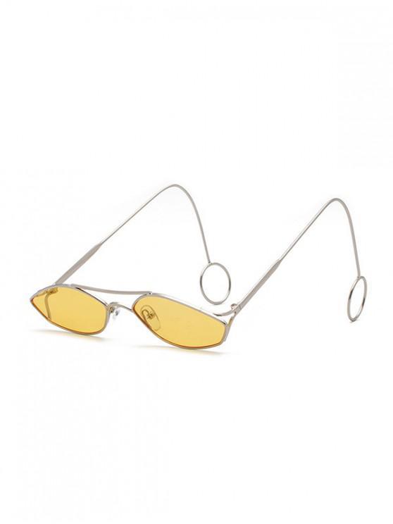 Unisex แว่นกันแดดแคบฮอลโลว์ที่ผิดปกติ - สีเหลือง