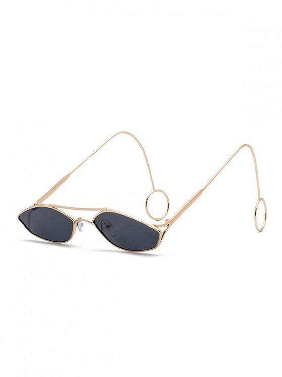 Gafas de sol huecos irregulares estrechas - Oro