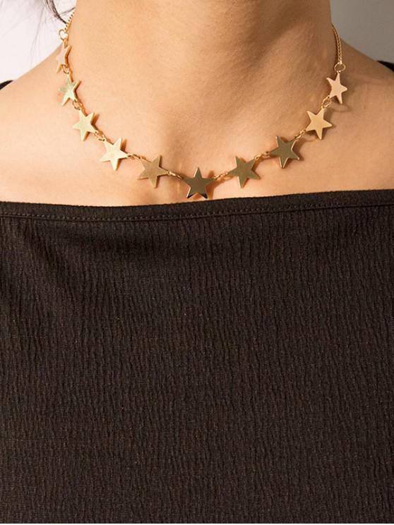 new Stars Clavicle Chain Necklace - GOLD