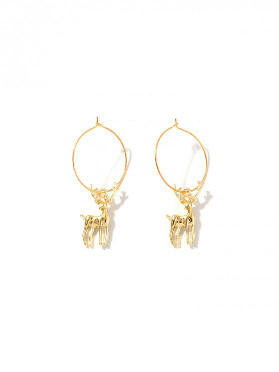 buy Christmas Elk Snowflake Shape Hoop Earrings - MULTI-A