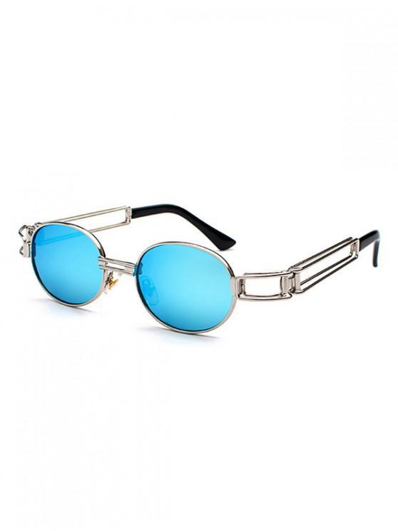 ทรงกลมโลหะผสมกรอบแว่นกันแดด - สีน้ำเงิน