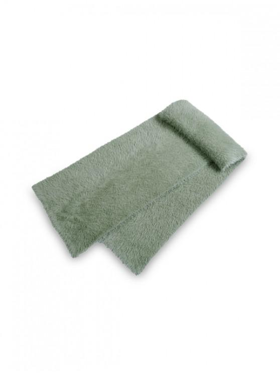 new Solid Color Decoration Fluffy Scarf - CAMOUFLAGE GREEN REGULAR