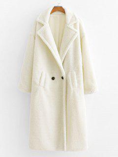 Manteau Avec Poche à Double Boutonnage à Revers - Blanc S