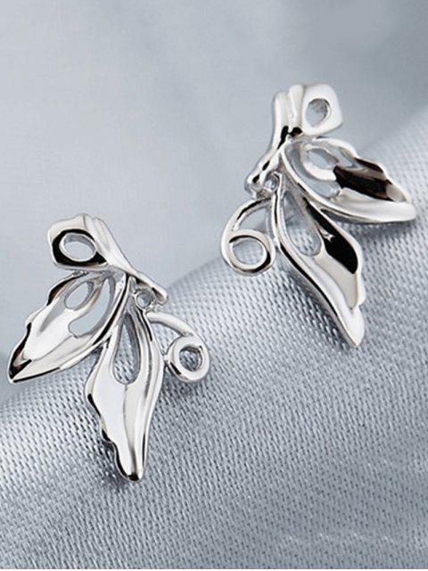 Hollowed Schmetterlings-Bolzen-Ohrringe - Silber  Mobile