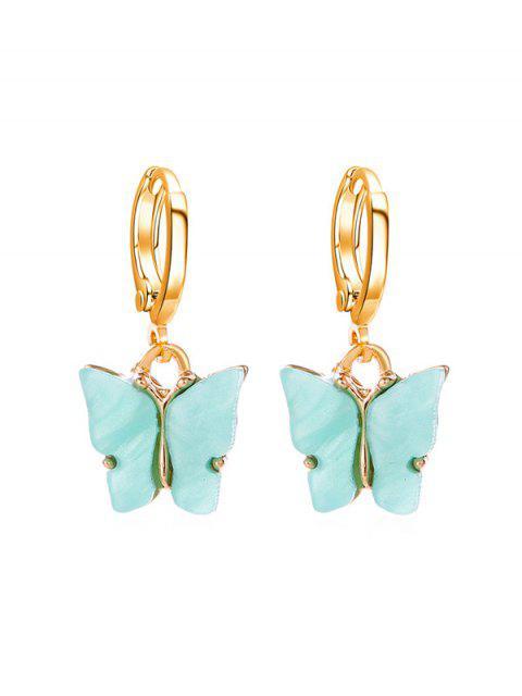 Schmetterling Kleine Band-Tropfen-Ohrringe - Aquamarin  Mobile