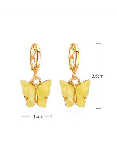 Schmetterling Kleine Band-Tropfen-Ohrringe - Mais  Mobile