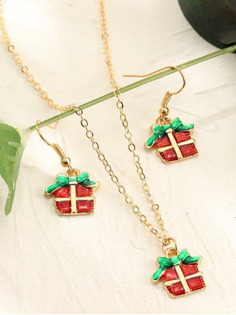 Collier à Chaîne Motif de Noël et Boucles d'Oreilles au Crochet - Multi-B  Mobile