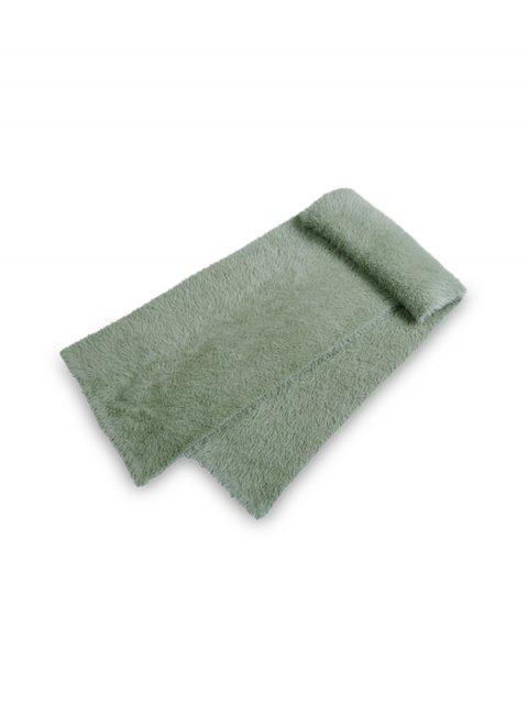 new Solid Color Decoration Fluffy Scarf - CAMOUFLAGE GREEN REGULAR Mobile