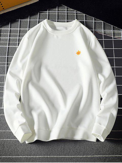 Tiny Sun impresión sudadera pulóver Sólido - Blanco XL Mobile