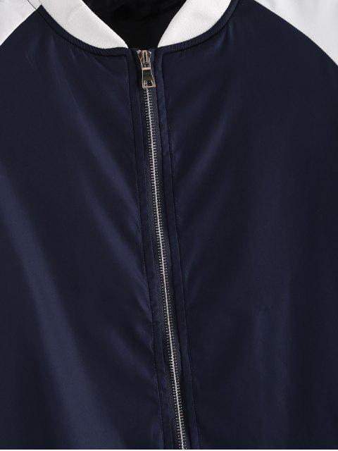 Chaqueta y pantalones del basculador colorblock empalmado manga raglán - Azul de Medianoche M Mobile