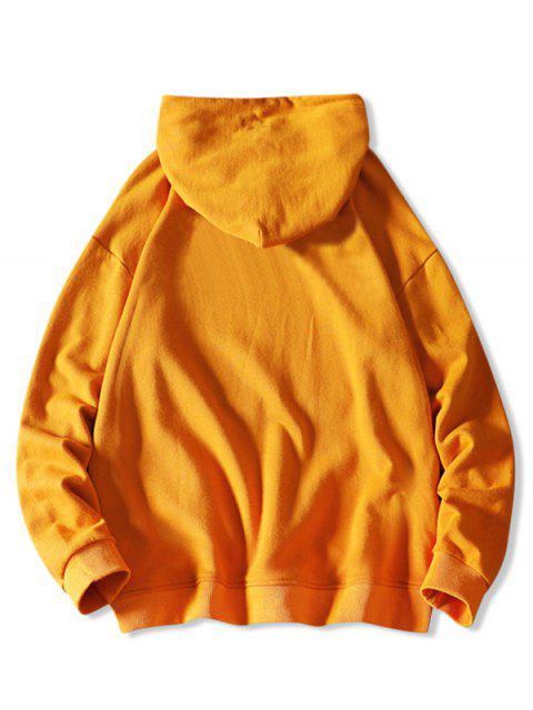Carta chino Gráfica de lazo con capucha informal - Amarillo Brillante XL Mobile